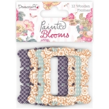 Dovecraft Painted Blooms Lovely Lazer-Cut Wooden Frames, 1 posl. sada