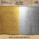 Idea-ology Tim Holtz Metallic paper, Gold