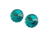 Swarovski - Rivoli - Blue Zircon, 10 mm