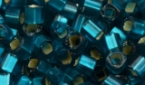 TOHO Cube 2 mm - Silver Lined Blue Zircon