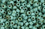 MATUBO 3-Cut 6/0 - Picasso Green Turquoise