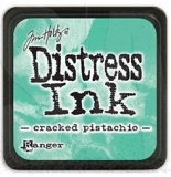 Mini polštářek Distress Ink - Cracked pistachio