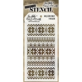 Šablona Tim Holtz - Holiday Knit, 1 posl. kus