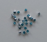 Bicone - Lake Blue Silver, 4 mm