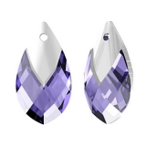 Swarovski Met Cap Pear - Tanzanite Light Chrome