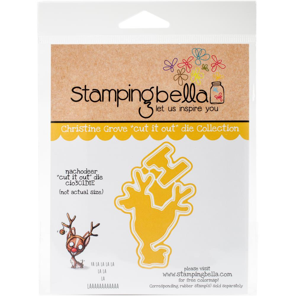 Sada - Nachodeer Die Cut and cling stamp, 1 posl. sada
